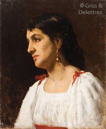 Ecole orientaliste XIXème siècle Portrait...