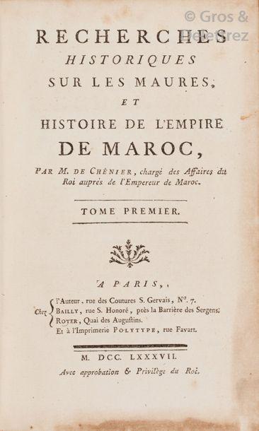 Louis-Sauveur de CHENIER. Recherches historiques...