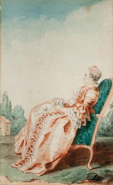 Attribué à Louis CARROGIS dit CARMONTELLE (1717-1806)