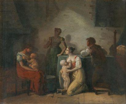 Attribué à Jean-Baptiste MALLET (1759 - 1835)