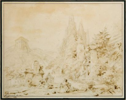 Attribué à Jean Honoré FRAGONARD (1732-1806)