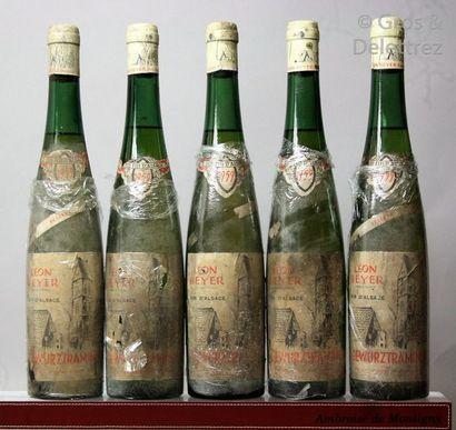 5 bouteilles ALSACE - TRAMINER (Gewurztraminer)...