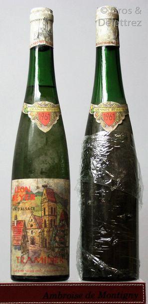2 bouteilles ALSACE - TRAMINER (Gewurztraminer)...