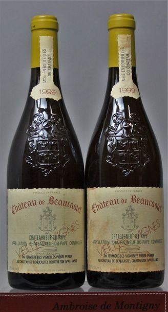 2 bouteilles CHATEAUNEUF de PAPE - CHÂTEAU...