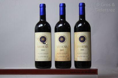 3 bouteilles Italie - SASSICAIA - Tenuta...