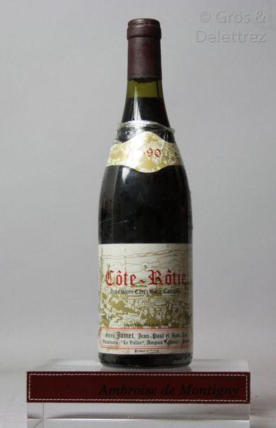 1 bouteille CÔTE RÔTIE - Jamet 1990 Etiquette...