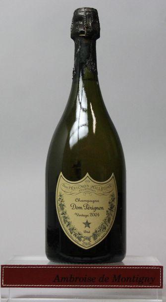 1 bouteille CHAMPAGNE DOM PERIGNON 2004  Coiffe...
