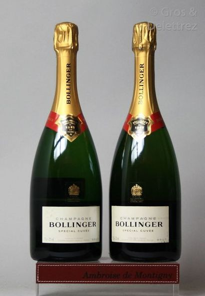 2 bouteilles CHAMPAGNE BOLLINGER 2011