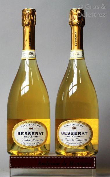 2 bouteilles CHAMPAGNE BESSERAT DE BELLEFON...