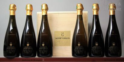 6 bouteilles CHAMPAGNE HENRI GIRAUD Collection...