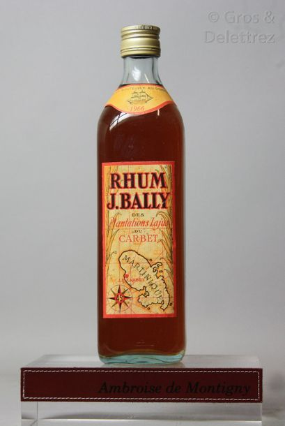 1 bouteille RHUM BALLY 1966