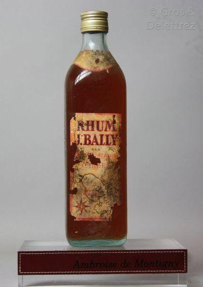 1 bouteille RHUM BALLY 1966 Etiquette ab...