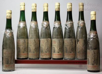 8 bouteilles ALSACE - TRAMINER (Gewurztraminer)...