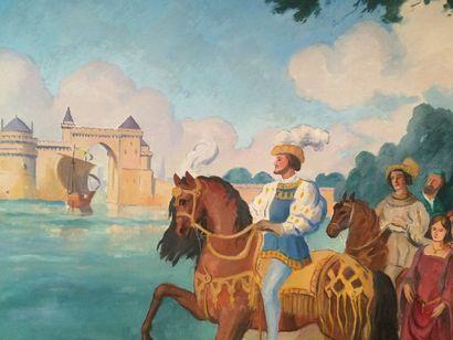 Louis Suire (1899 Cognac - Lagord 1987) François 1er devant le front de mer à La...