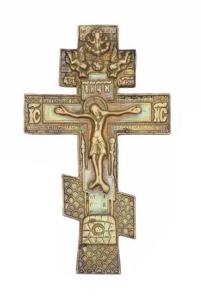 Le Christ en croix  Bronze. 19,5 x 11,5 ...