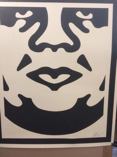 Shepard Fairey  Trois lithographies formant...