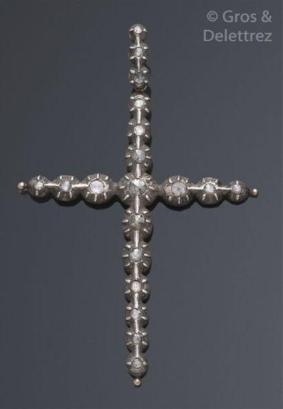 Croix-pendentif provençale en or et argent...