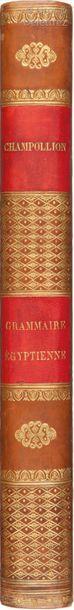 CHAMPOLLION LE JEUNE (Jean-Francois). Grammaire...
