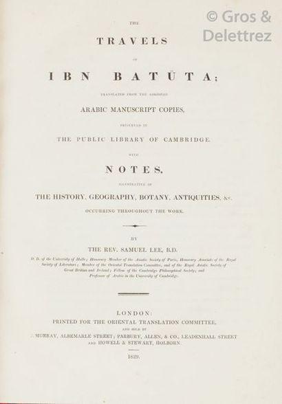 IBN BATUTA (Samuel LEE éditeur). The travels...