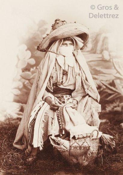 Victor Hell et divers  Maroc, c. 1880.  Odalisque...
