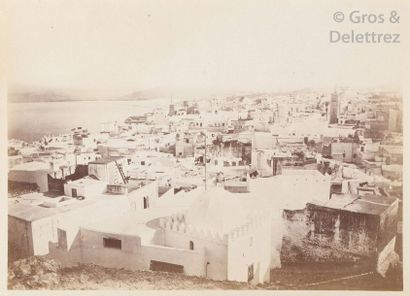 Victor Hell  Maroc, c. 1880.  Paysages. Souks. Remparts. Tanger. Port. Défilé. Rue....