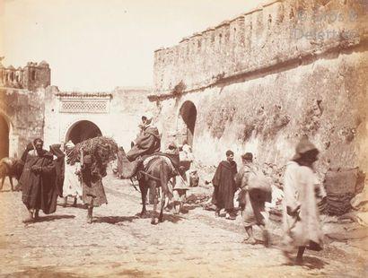 J. P.  Maroc, c. 1880.  Marché. Scènes de...