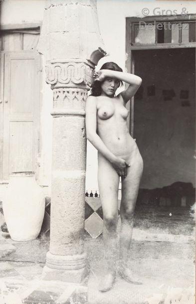 Edmond Douté (1867-1926)  Maroc, 1900-1910.  Portraits ethnographiques. Nus féminins....