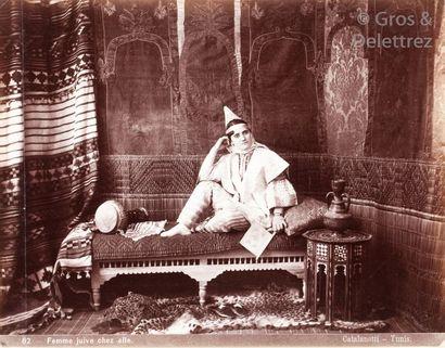 Albert - Ernesto Catalanotti et divers  Tunisie, c. 1880.  Juives tunisiennes.  Quatre...