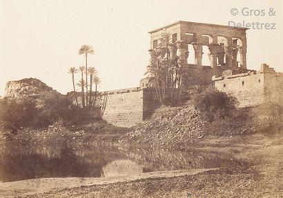 Robert Murray (1822-1893)  Égypte, c. 1852-1857.  Philae.  Épreuve sur papier salé-albuminé,...