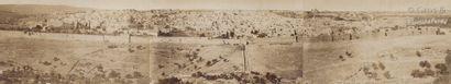 Tancrède Dumas (1830-1905)  Panorama de Jérusalem, c. 1870.  Panorama composé de...