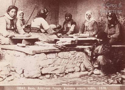 Dmitri Ivanovitch Ermakov (1846-1916)  Arménie, c. 1880.  Femmes arméniennes préparant...