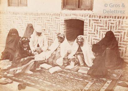 Antoine Sevruguin (1830-1933)  Perse (Iran), c. 1880.  École persanne coranique....