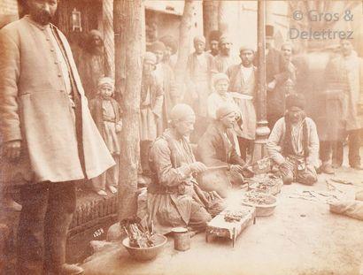 Antoine Sevruguin (1830-1933)  Perse (Iran), c. 1880.  Boutique de produits laitiers....