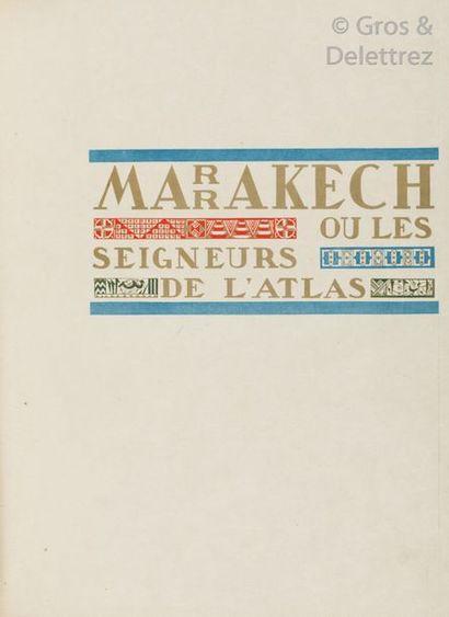 [SCHMIED] THARAUD Jérôme et Jean. Marrakech...