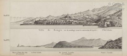MOUCHEZ (Ernest). Algérie. Vues des côtes....