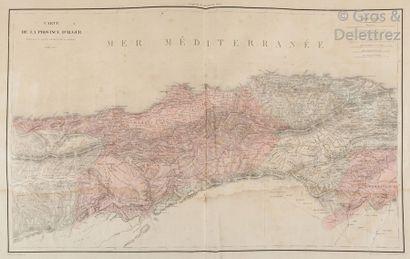Atlas composite de cartes sur Algérie   PELET (Général) Province et territoire...