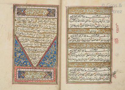 Coran manuscrit ottoman daté de 1288 (1871)...