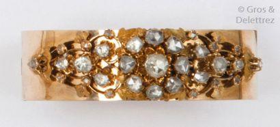 Bracelet rigide ouvrant en or jaune 14K,...