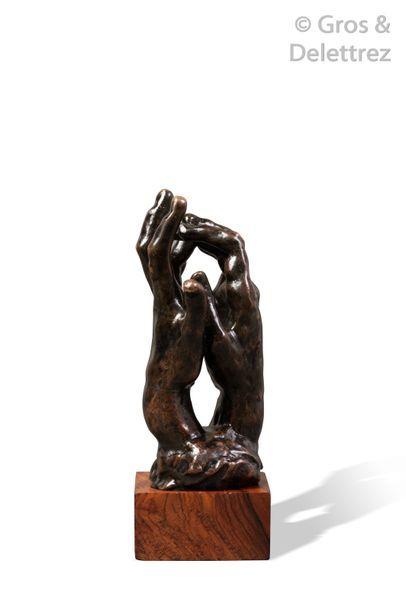 Auguste RODIN (1840-1917) Assemblage de main droite n°30 et main gauche n°2 (Esquisse...