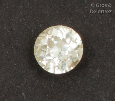 Diamant sur papier de taille ancienne calibrant...