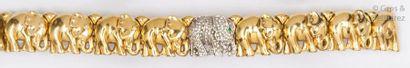 Bracelet «?Éléphant?» articulé en or jaune,...