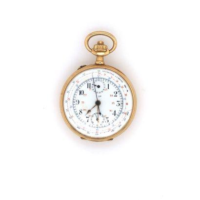 LIP  MONTRE DE GOUSSET chronographe en or...