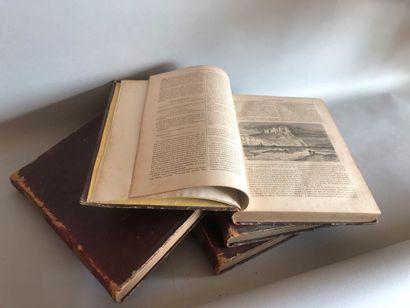 «Le tour du monde»  Quatre Volumes 1864-1865...
