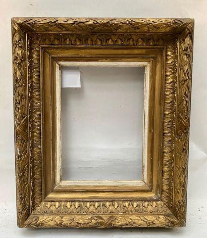 Petit CADRE dit Barbizon  XIXème siècle  26 x 18,5 x 10 cm