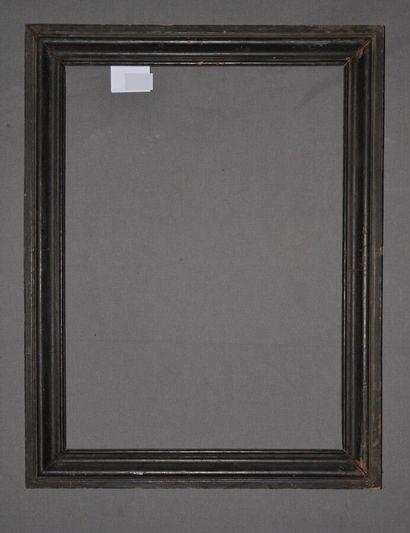 PAIRE de CADRES en bois mouluré et noirci.  Fin du XIXème siècle  61,5 x 44,5 x...