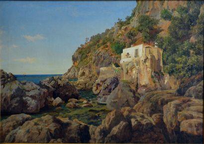 Thorald Læssøe. (1816 - 1878)  Les côtes...