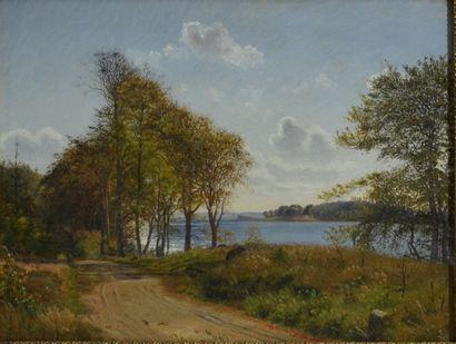 Vilhelm Kyhn (1819 - 1903)  Les lacs de Silkeborg...