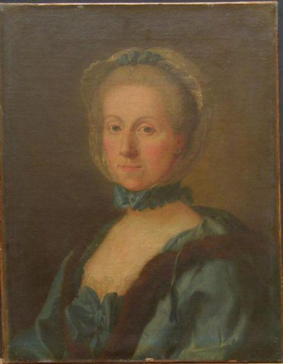 Jean GIRARDET (1709-1779)  Portrait de madame...