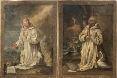 Ecole FRANCAISE vers 1730  Deux saints chartreux...