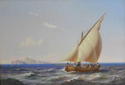 Niels Simonsen. ( 1807 - 1885)  La traversée...